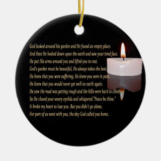 The day God called you home with candle ornament