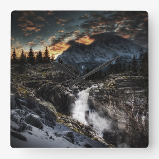 The day goes square wall clocks