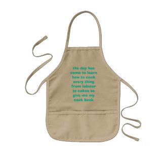 the day has come to learn how to cook every thi... kids' apron