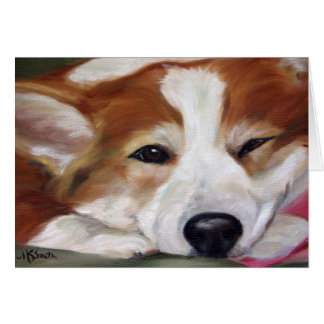 """The Day Is Done"" Corgi Art Greeting Cards"