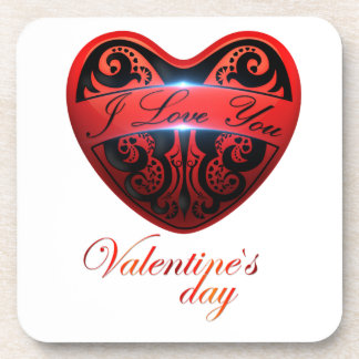 The day of San Valentin Beverage Coaster