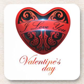 The day of San Valentin Beverage Coaster