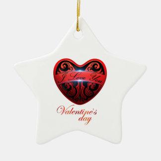 The day of San Valentin Ceramic Ornament