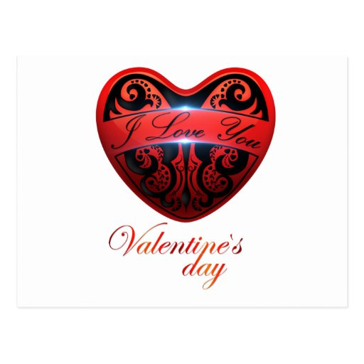 The day of San Valentin Post Card