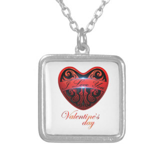 The day of San Valentin Square Pendant Necklace