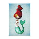The Day of The Dead Beautiful Mermaid Canvas Print