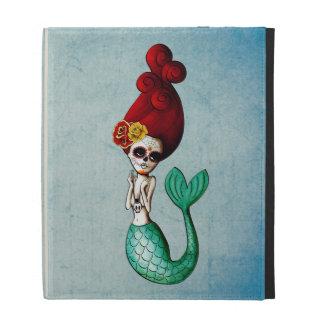 The Day of The Dead Beautiful Mermaid iPad Folio Cover