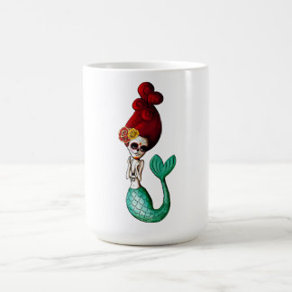 The Day of The Dead Beautiful Mermaid Basic White Mug