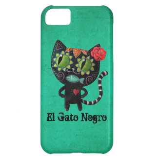 The Day of The Dead Black Cat Cover For iPhone 5C