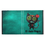 The Day of The Dead Black Cat iPad Cases