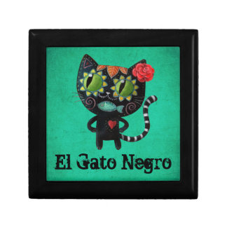 The Day of The Dead Black Cat Keepsake Box