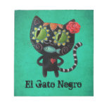 The Day of The Dead Black Cat Memo Notepads