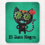 The Day of The Dead Black Cat Mousepad