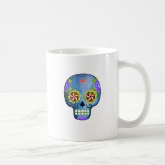 The Day of The Dead Blue Sugar Skull Classic White Coffee Mug