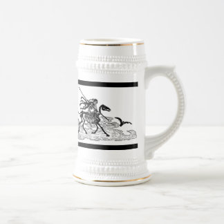 """""""The Day of the Dead"""" circa 1901 Beer Stein"""