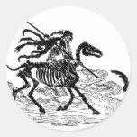 """The Day of the Dead"" circa 1901 Classic Round Sticker"
