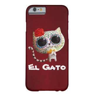 The Day of The Dead Cute Cat Barely There iPhone 6 Case