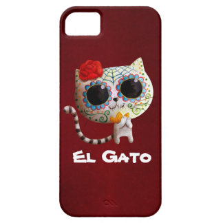The Day of The Dead Cute Cat iPhone 5 Case