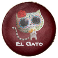 The Day of The Dead Cute Cat Chocolate Dipped Oreo