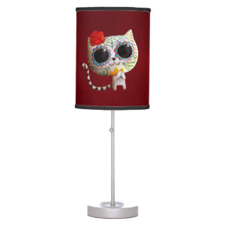 The Day of The Dead Cute Cat Desk Lamp