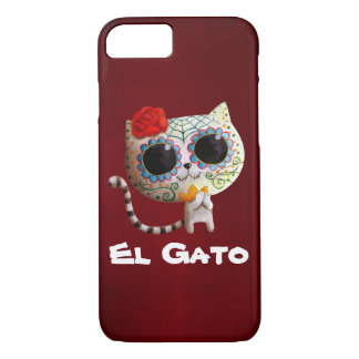 The Day of The Dead Cute Cat iPhone 7 Case