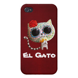 The Day of The Dead Cute Cat iPhone 4/4S Cases