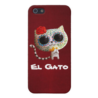 The Day of The Dead Cute Cat iPhone 5 Cases