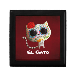 The Day of The Dead Cute Cat Keepsake Box