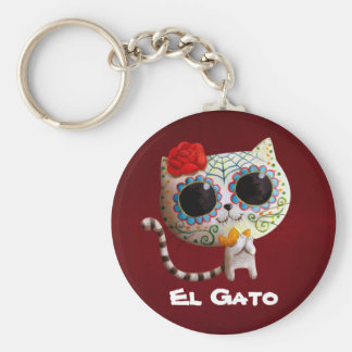 The Day of The Dead Cute Cat Keychain