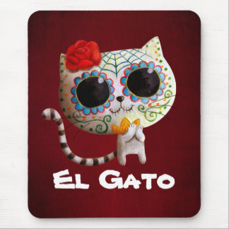 The Day of The Dead Cute Cat Mouse Pad