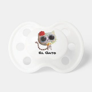 The Day of The Dead Cute Cat BooginHead Pacifier