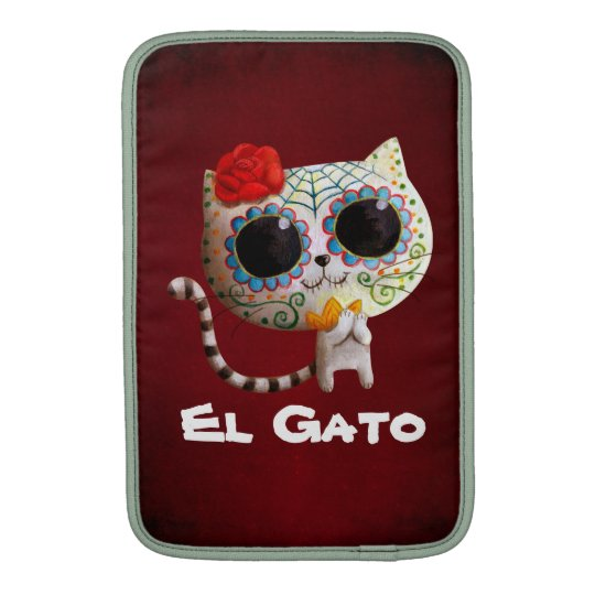 The Day of The Dead Cute Cat Sleeve For MacBook Air
