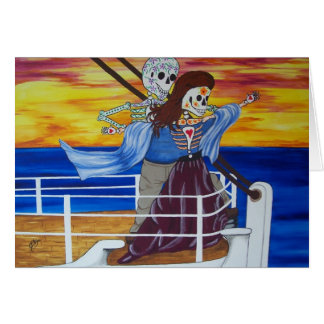 The Day of the Dead Famous Lovers of the Titanic Card