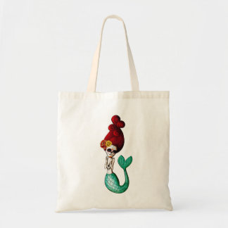 The Day of The Dead Little Miss Mermaid Tote Bag