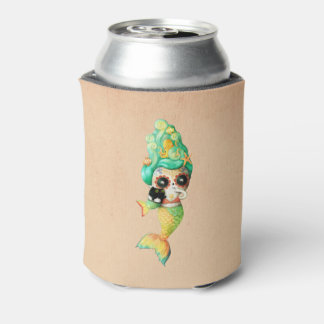 The Day of The Dead Mermaid Girl Can Cooler