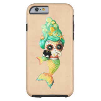The Day of The Dead Mermaid Girl Tough iPhone 6 Case