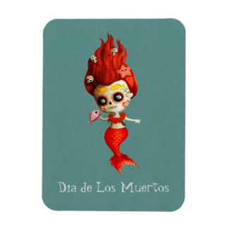 The Day of The Dead Mermaid Magnet