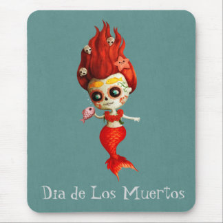 The Day of The Dead Mermaid Mouse Pad