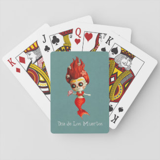 The Day of The Dead Mermaid Playing Cards