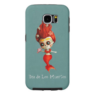 The Day of The Dead Mermaid Samsung Galaxy S6 Cases