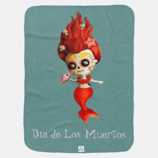 The Day of The Dead Mermaid Stroller Blanket