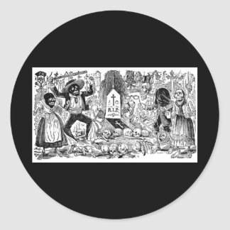 The Day of the Dead, Mexico. Circa early 1900's Classic Round Sticker