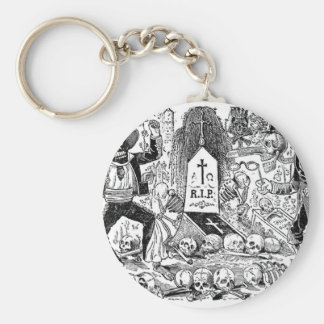 The Day of the Dead, Mexico. Circa early 1900's Keychain