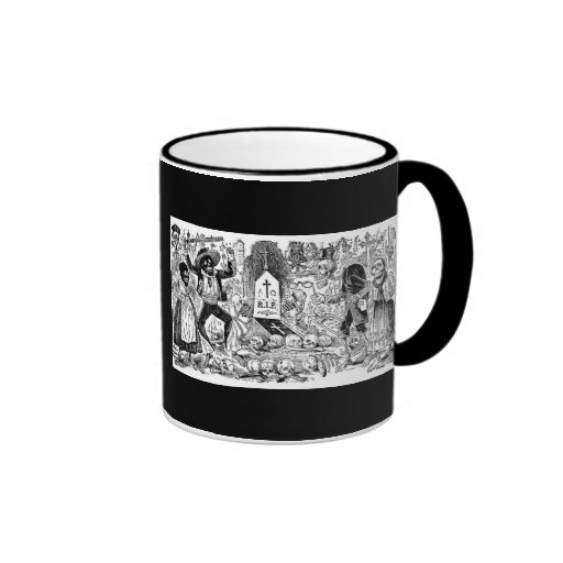The Day of the Dead, Mexico. Circa early 1900's Ringer Coffee Mug