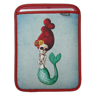 The Day of The Dead Old School Cute Mermaid Sleeve For iPads