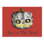 The Day of The Dead Pumpkin Sugar Skull Postcard