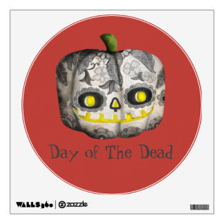 The Day of The Dead Pumpkin Sugar Skull Wall Decal