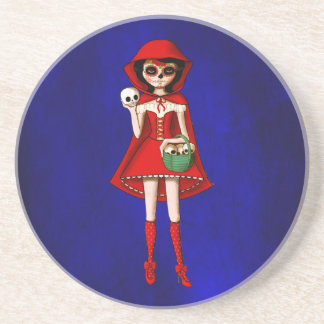 The Day of The Dead Red Riding Hood Coaster