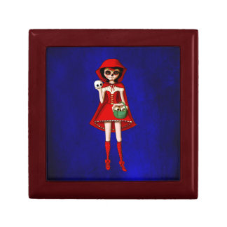 The Day of The Dead Red Riding Hood Keepsake Box