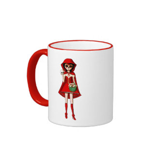 The Day of The Dead Red Riding Hood Ringer Mug